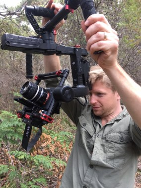 Producer Matt Hamilton operating a Ronin - PHOTO Peter Nearhos ACS