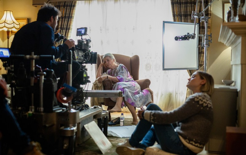 Cinematographer Charlie Sarroff films Robyn Nevin in a scene for 'Relic' - PHOTO Jackson Finter