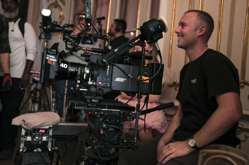 Cinematogrpaher Josh Mckie behing the camera on 'K-12' - PHOTO Supplied