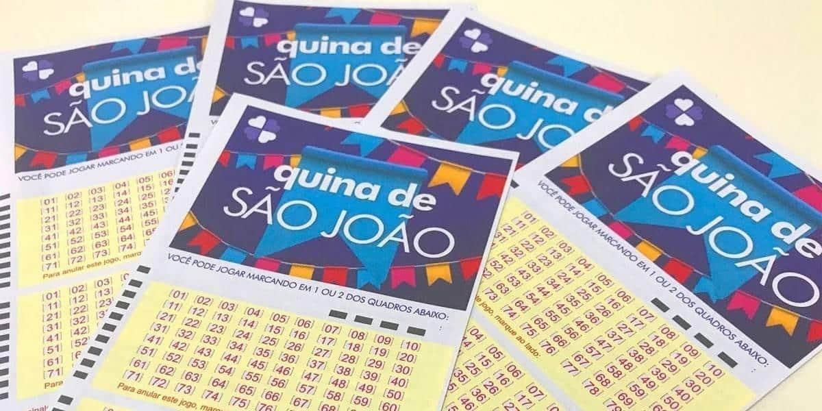Quina de São João sorteia neste sábado R$ 140 milhões; aposta pode ser feita pela web
