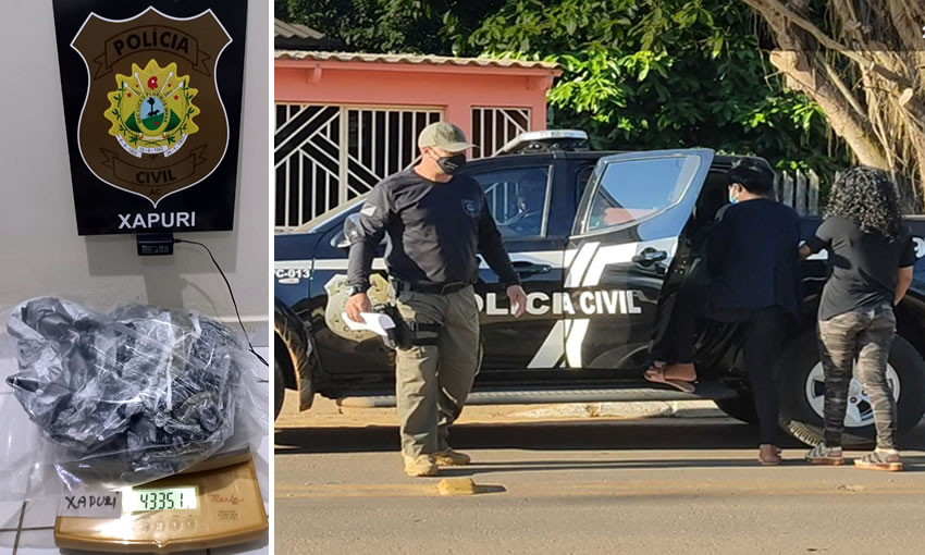 Táxi é interceptado e polícia apreende menor com quase 5 kg de crack na BR-317