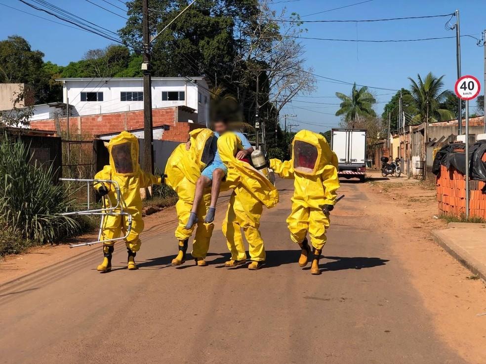 Cinco pessoas são socorridas após vazamento de gás em fábrica de gelo no AC