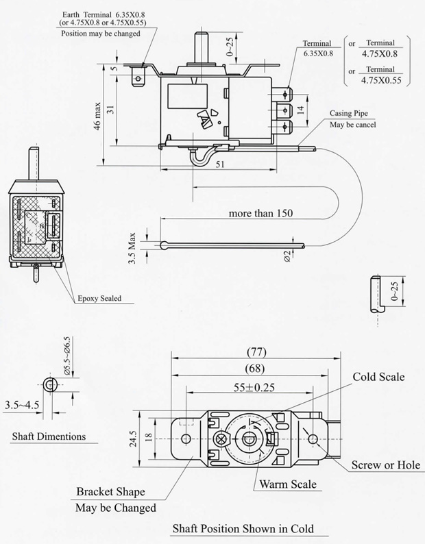 EWD-E Series (Termostats for explosion area)