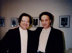 Yoav Talmi con Itzhak Perlman en San Diego en 1995