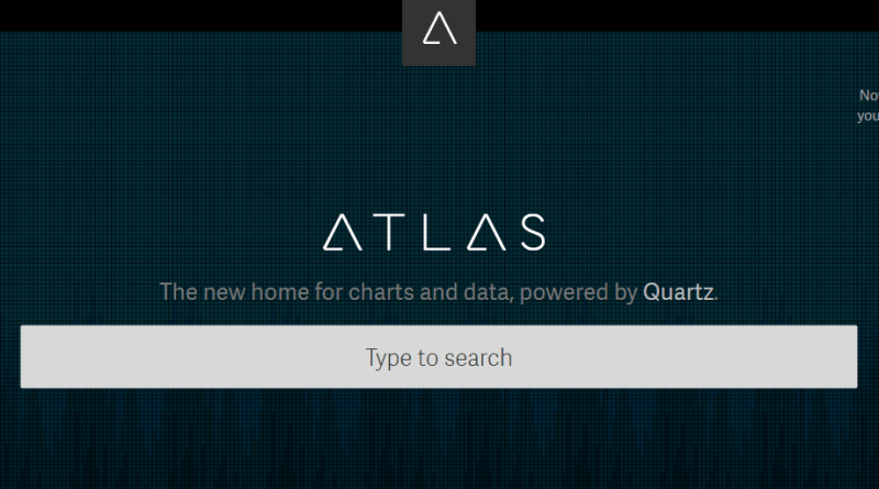 Quartz Atlas homepage screenshot