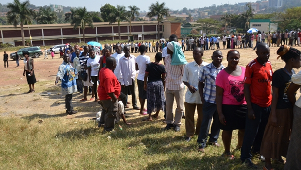 Ugandans cue to cast their cotes in the 2016 general election