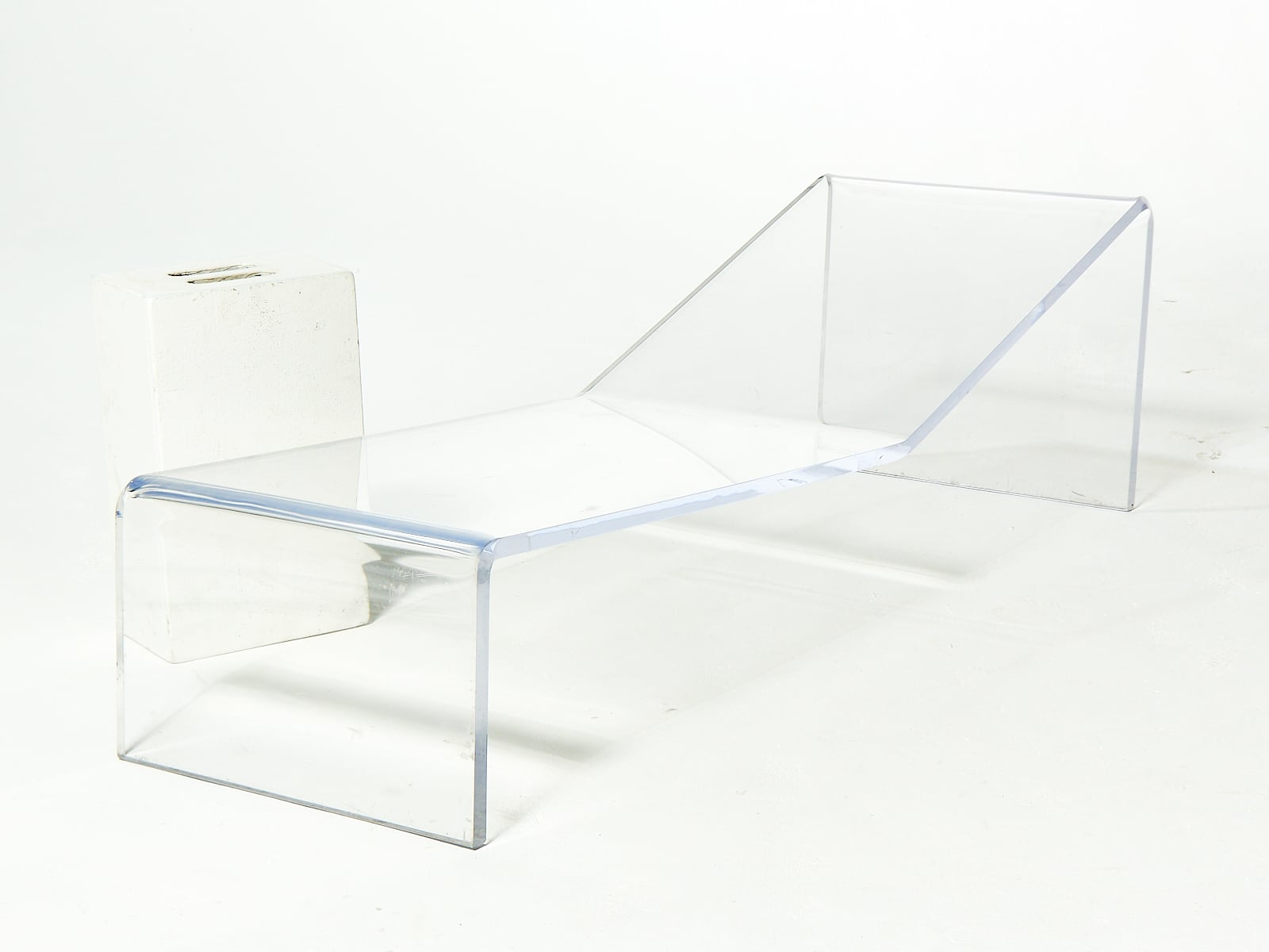 Plexiglass Chairs Ch097 Plexiglass Lounge Prop Rental Acme Brooklyn