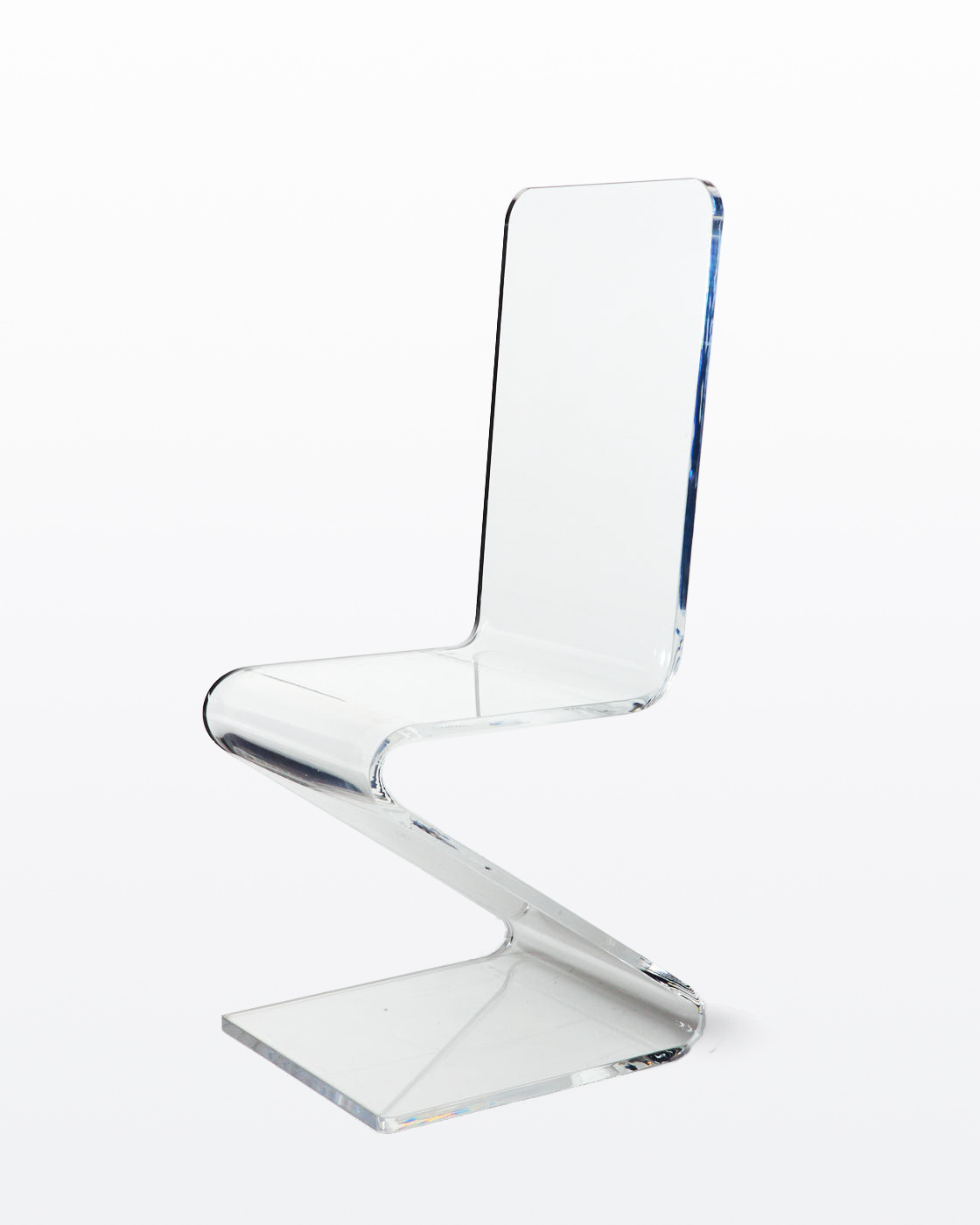 Plexiglass Chairs Ch239 Curve Acrylic Chair Prop Rental Acme Brooklyn
