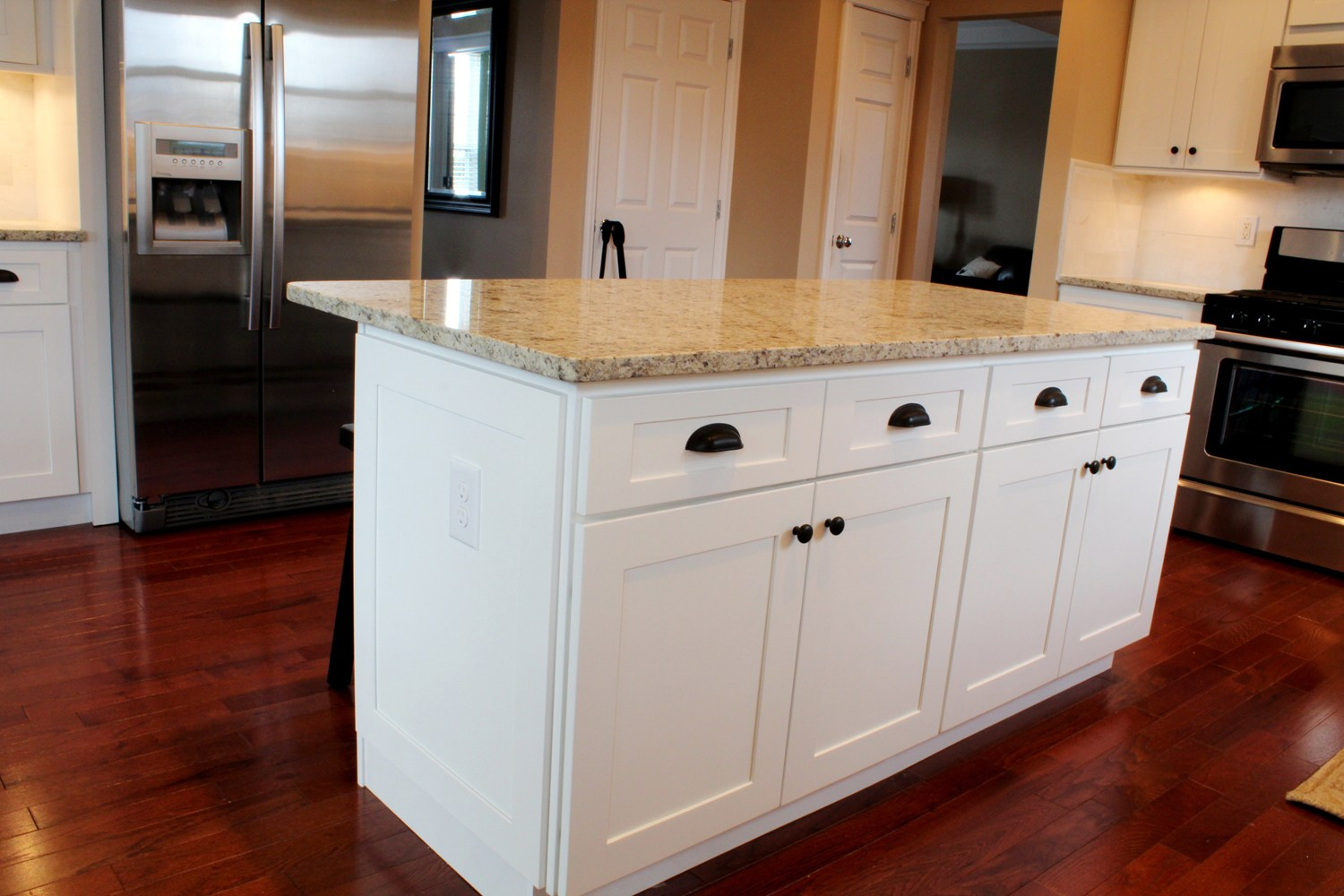 kitchen cabinet doors with glass best pull down faucet customer photos - acmecabinetdoors.com