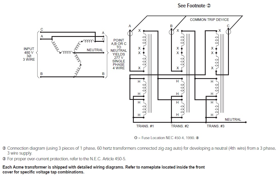 Wiring Diagrams Three Phase Transformers Wiring Three