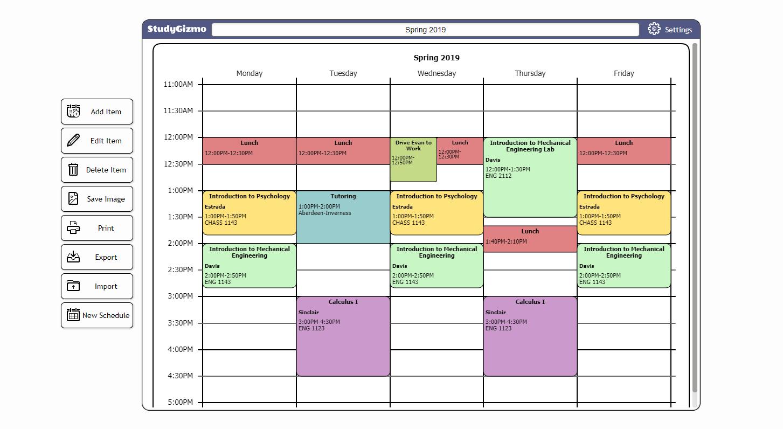 Free Printable Schedule Maker