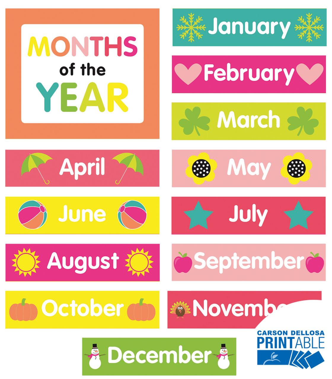Months Printable