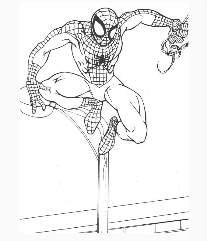 13+ Cool Spiderman Coloring Pages for Your Kids Template
