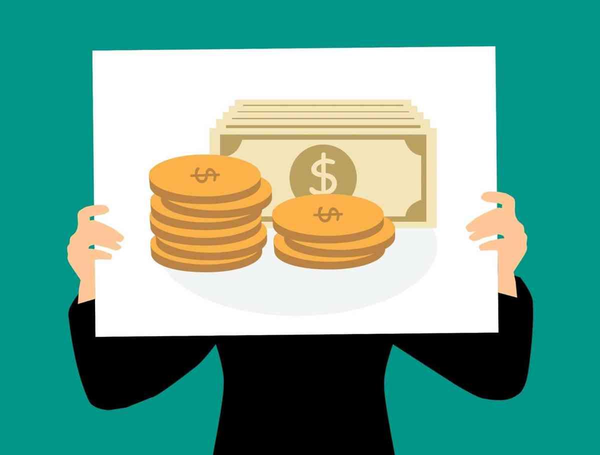 holding sign cash offer