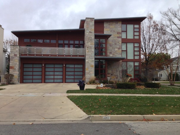 Modern look Garage Doors installed in Elmhurst, IL