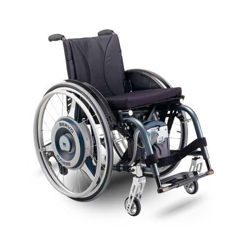 merits power chair office chairs with lumbar support servo assist wheelchair device - ac mobility