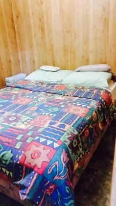 Bed in Caravan Park