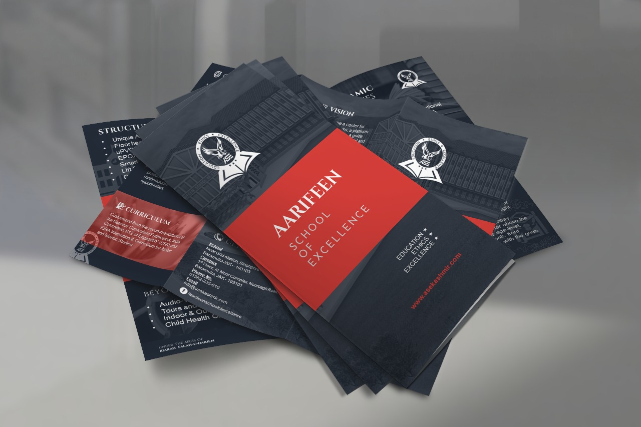 Tri-Fold Brochure for Aarifeen School