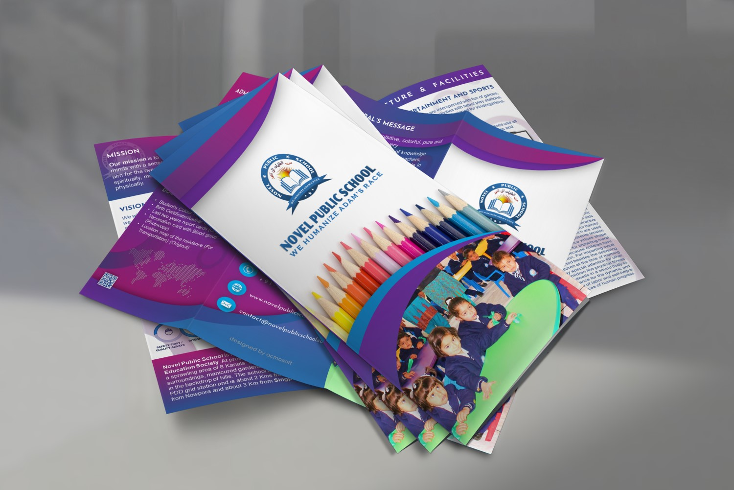 Tri-Fold Brochure for Novel Public School