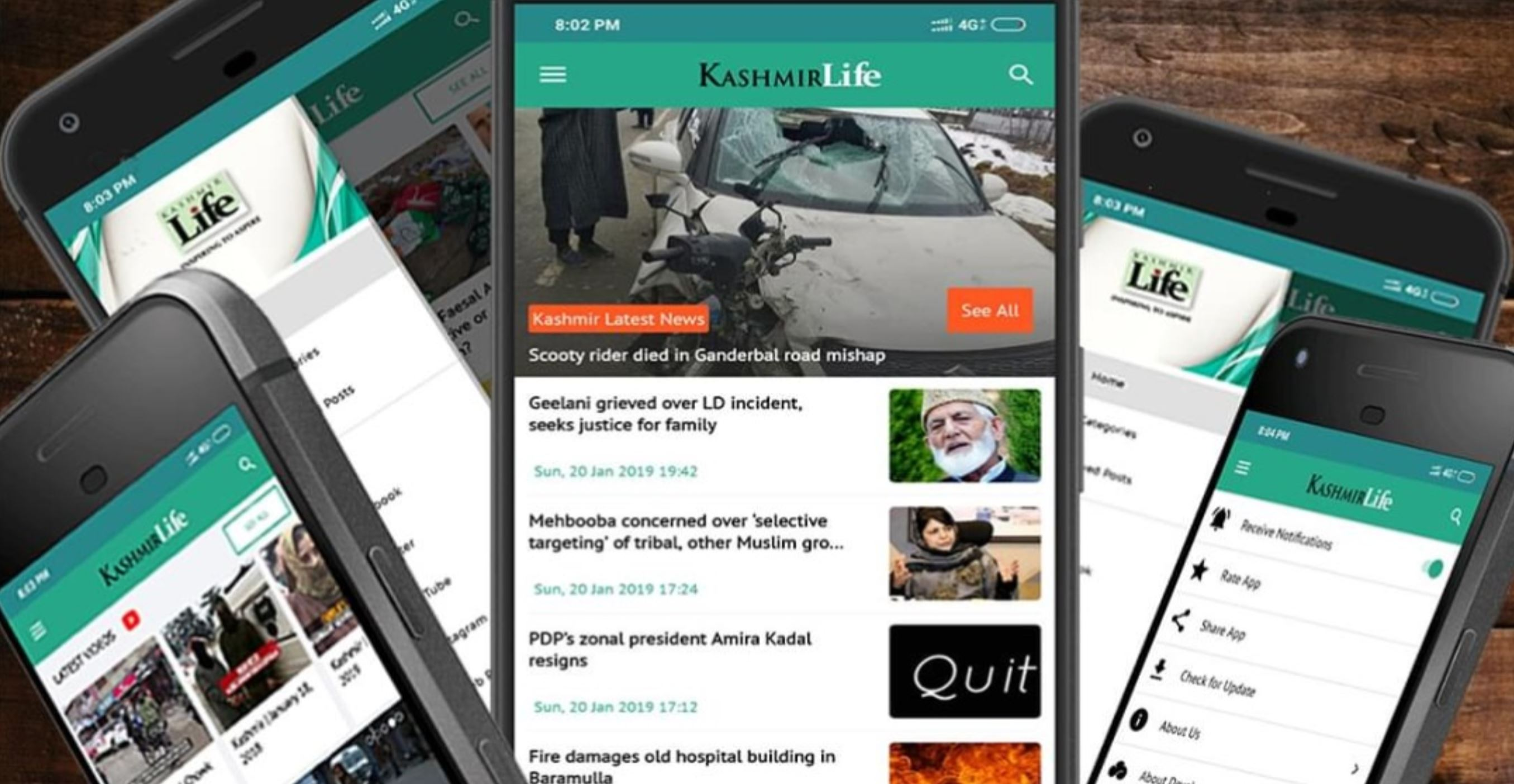 Kashmir Life Android App