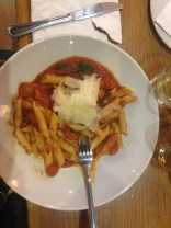 Penne Pomodoro at Cappuccinos