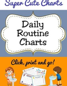 Daily routine charts pinerest also free printable for kids acn latitudes rh