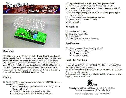 small resolution of dp29ci instruction sheet page 2