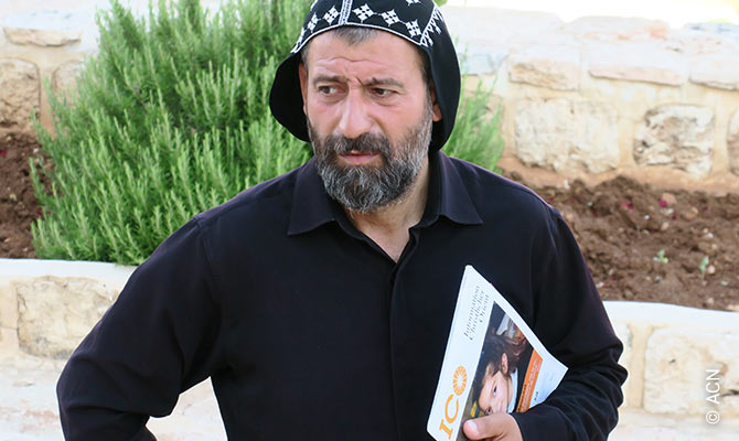 """Abbot Aho Bilecen from monastery Mor Yakub d'Karno, Tur Abdin/Turkey. In January 2020, he was arrested by Turkish police together with two maiors from Tur Abdin. Police accuses him of """"terror support"""". After some days, he was set free."""