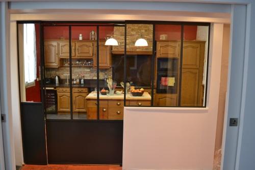 meuble cuisine avec porte coulissante