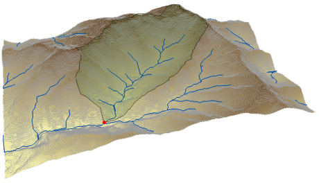 Watershed delineation with ArcGIS