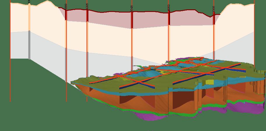 Crear un Perfil 2D y Construir un Modelo 3D del Subsuelo