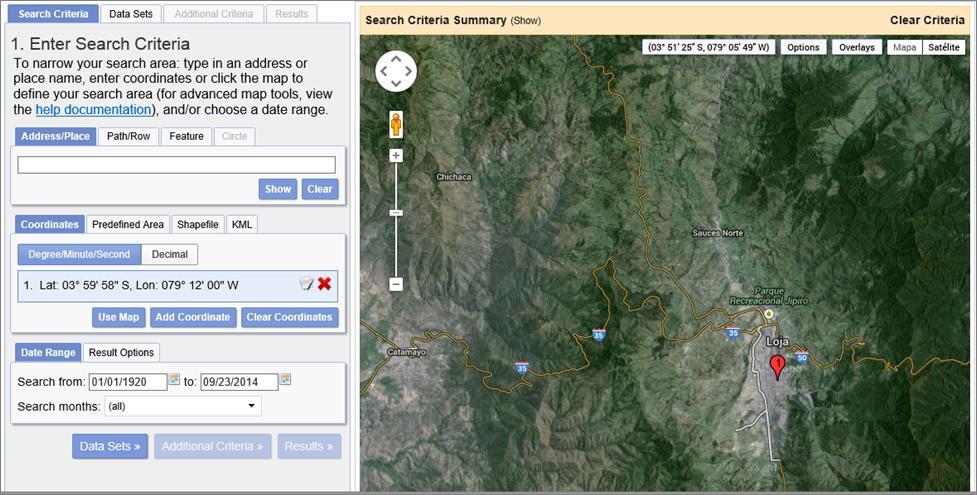 Download Landsat 8 satellite images – GeoGeek