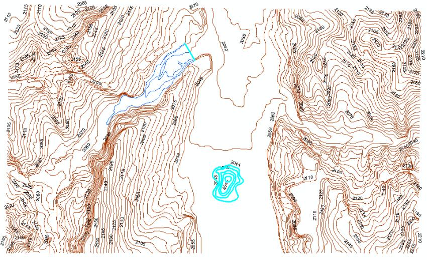 Curvas de nivel lago ArcGIS