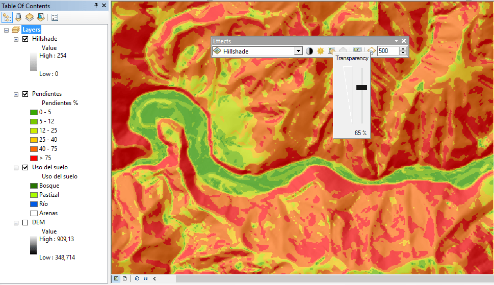 Create a nice map with shaded relief in ArcGIS – GeoGeek