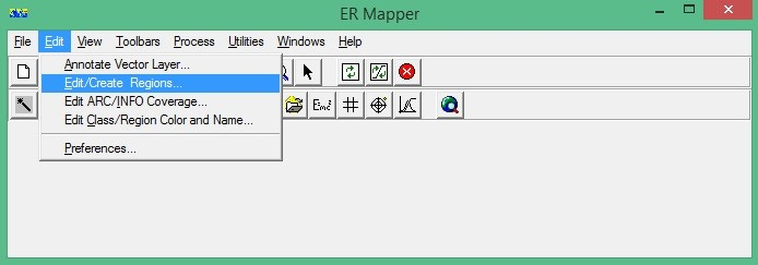 ER Mapper Edit create regions