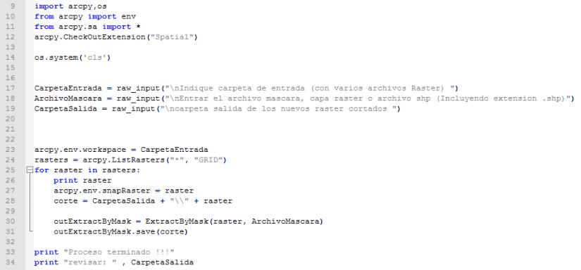 Script python ArcGIS