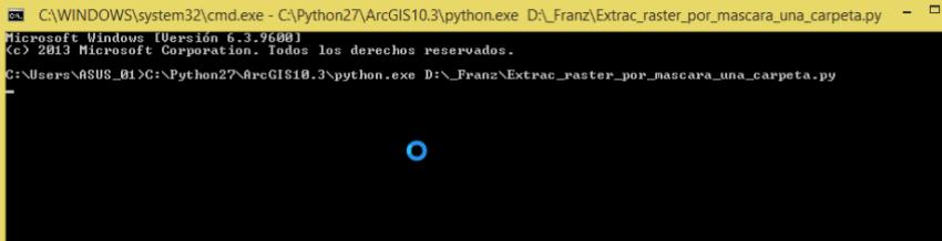 Script python en MS-DOS