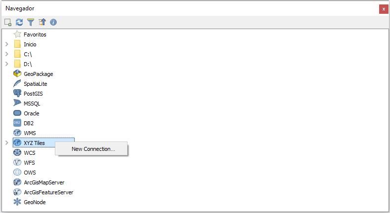 Navegador XYZ Tiles QGIS 3