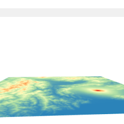 Rotar un DEM en 3D Map View en QGIS 3