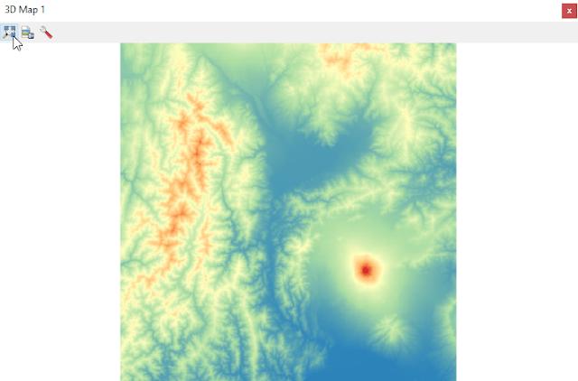 Ventana 3D Map View en QGIS 3
