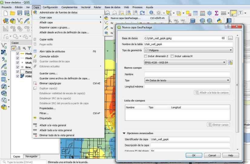 Crear Geopackage en QIS 3
