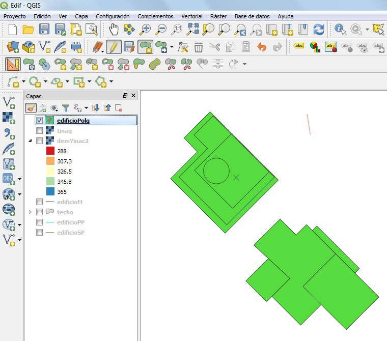 Edificaciones 2D QGIS 3