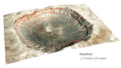 Cráter en Arizona