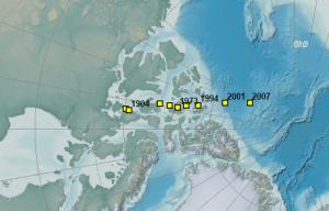 Desplazamiento magnético hacia el norte