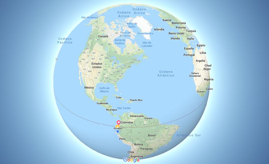 Groenlandia en Google Maps