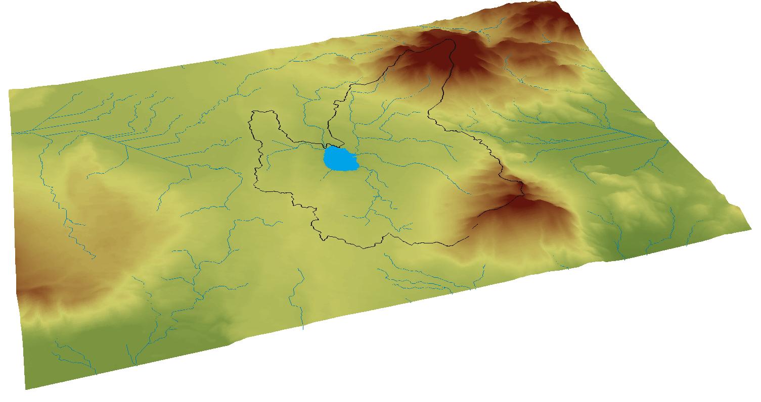 Cuenca Endorreica delimitada en ArcGIS