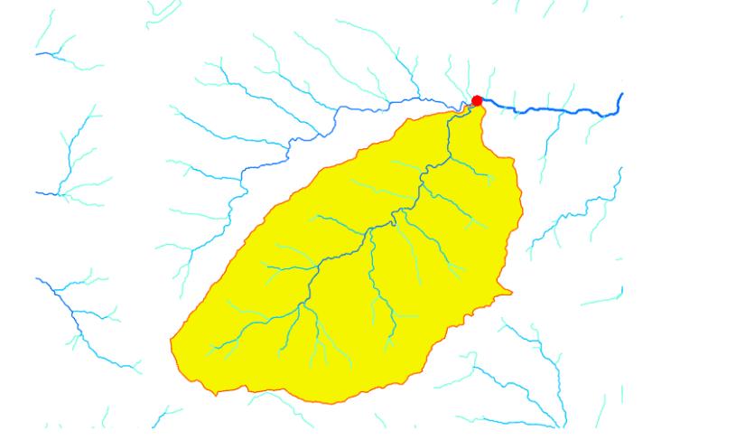 Cuenca hidrográfica delimitada en ArcGIS Pro