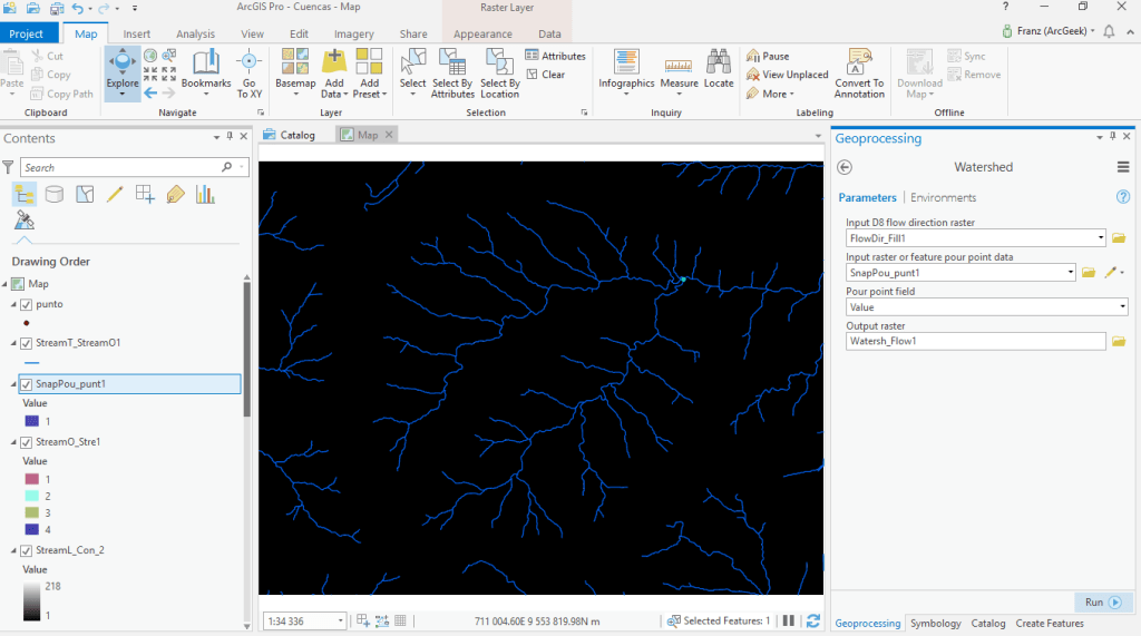 Watershed ArcGIS Pro