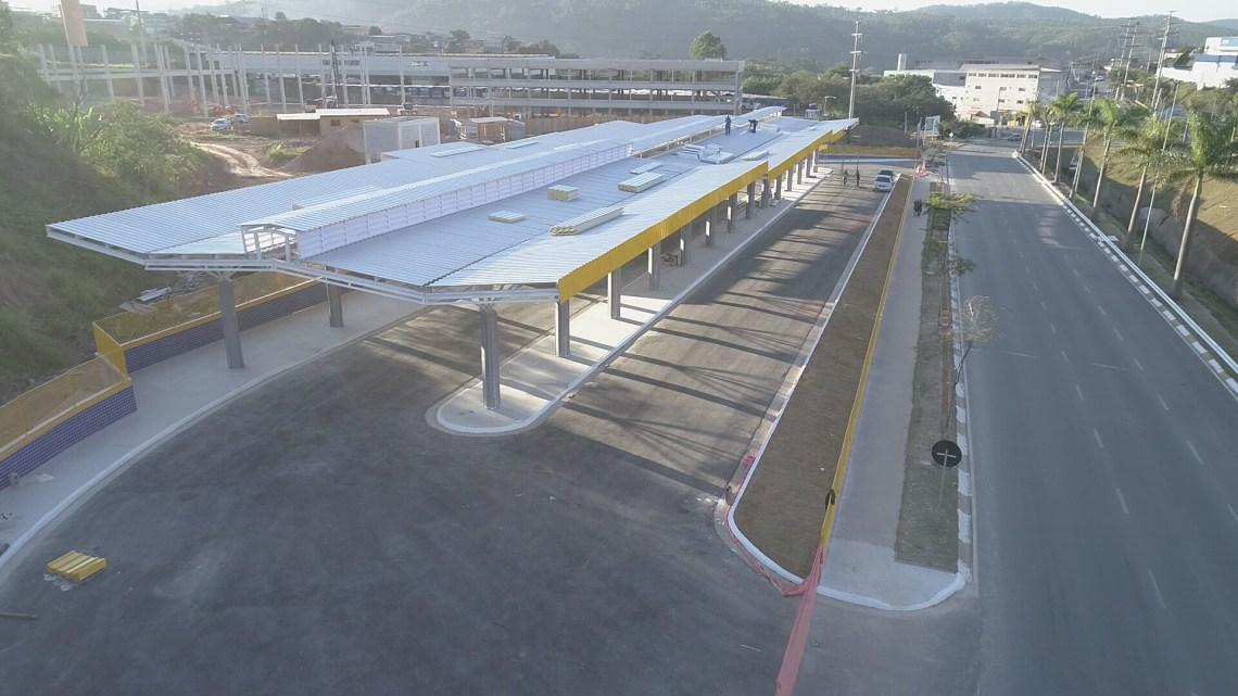 Obras do Terminal Rodoviário da Fazendinha e Alphaville entram na reta final