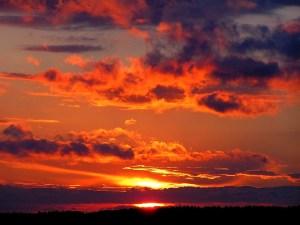 pixabay pic of sunset